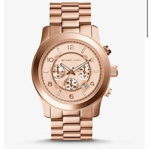 Michael Kors Oversized Runway Rose gold watch